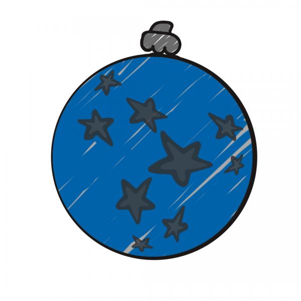 Weihnachtskugel Blau