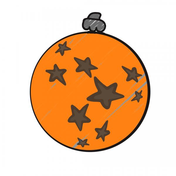 Weihnachtskugel Orange