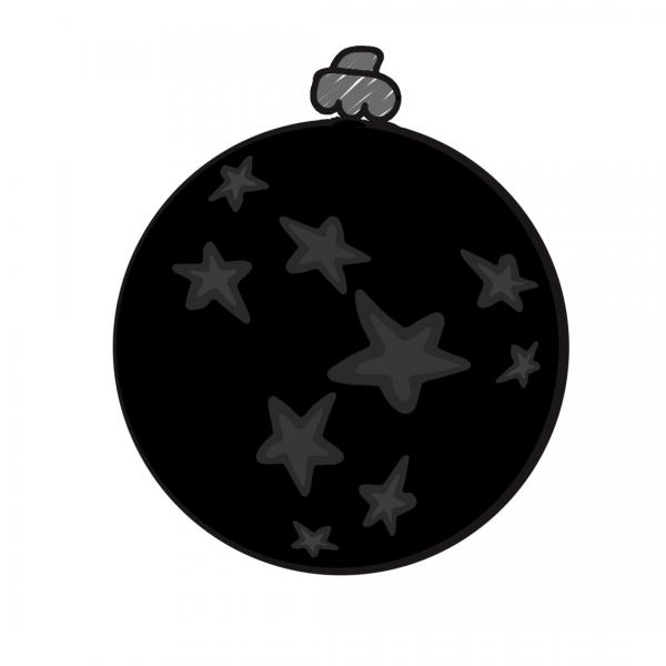 Weihnachtskugel Schwarz