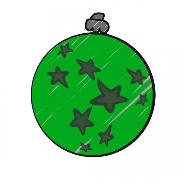 Weihnachtskugel Grün