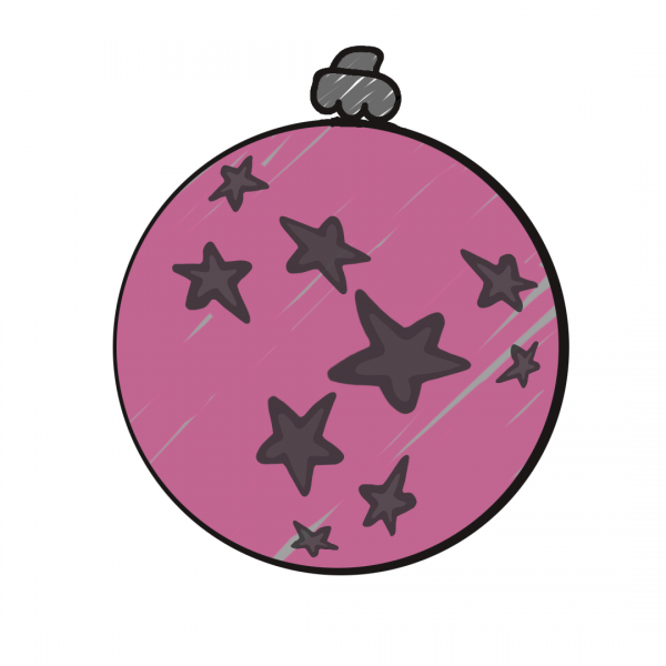 Weihnachtskugel Rosa
