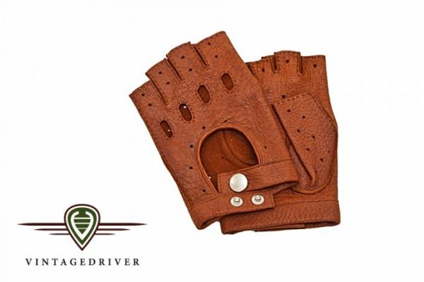 Herrenhandschuh,halbfinger aus Peccary Leder