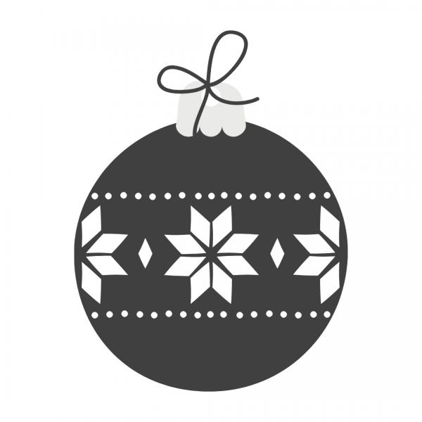 Christmas Bulb Black