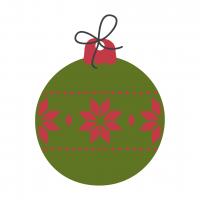 Christmas Bulb Green-Red