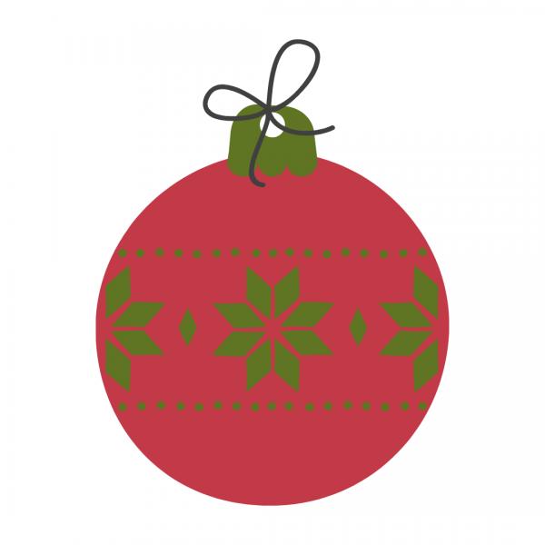 Christmas Bulb Red-Green