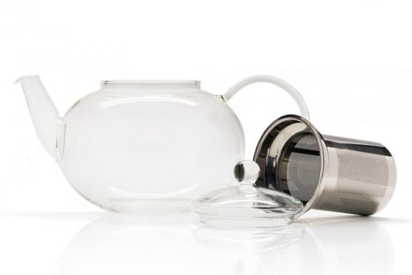 Glas-Teekanne