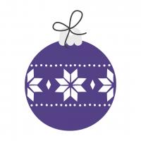 Christmas Bulb Purple